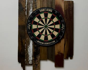 Dart Board with reclaimed wood surround
