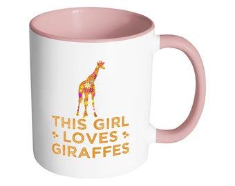 Cute Giraffe Mug - This Adorable Floral Giraffe Coffee Mug Will Definitely Get Smiles - Perfect Giraffe Lover Gift