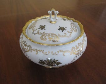 Reichenbach Porcelain Covered Candy Dish