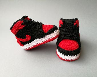 Crochet Air Bébé Crochet Baskets Nike De Chaussons Au 1 Jordan w1RIFxSYq