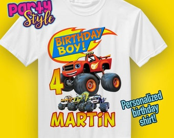 Blaze And The Monster Machines, Blaze Birthday T-Shirt, Blaze Name Age, Custom Blaze Shirt, Personalized Blaze Apparel