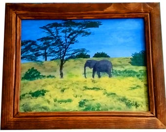 Elephant with frame
