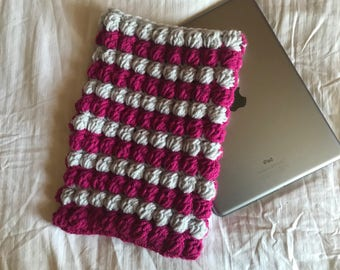 "Handmade Ipad 9.7"" crochet bobble tablet case / cover"