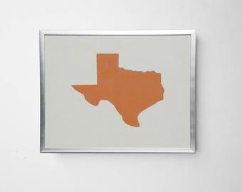 Texas Longhorn White Leather Art