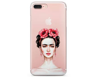 Frida Kahlo iPhone 7 cute iPhone 6s case Frida iPhone 8 plus case clear iPhone 5 case Frida Kahlo case iPhone x iPhone 8 case Frida Kahlo