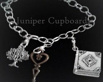 Witch 3 Charm Bracelet Jewelry Tree of Life-Brass Key-BOS