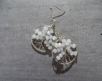 Life tree dangle earrings