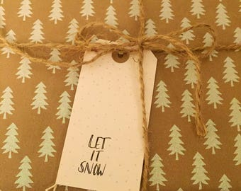 Let It Snow Christmas Tag
