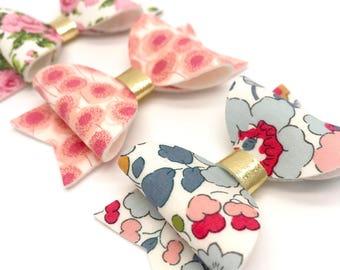 Rose Liberty hair bow clip Set of 3 Small headband hair accessories nylon
