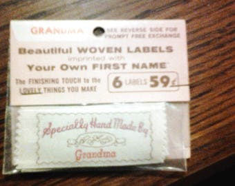 New , made by Grandma woven labels