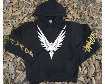 Maverick Logang Savage Sleeves GOLD // Hoodie Sweatshirt