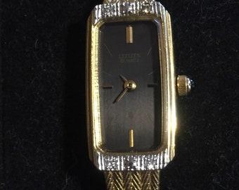 Ladies Citizen Gold And Diamond wrist watch