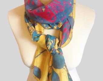Sevenoaks silk/cotton narrow scarf