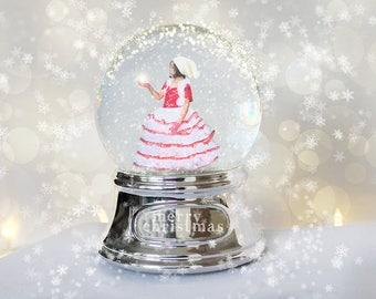 Christmas Snow Globe Digital Backdrop, Christmas Snow Globe Digital Background, Winter Snow Globe Digital Backdrop, Winter Background