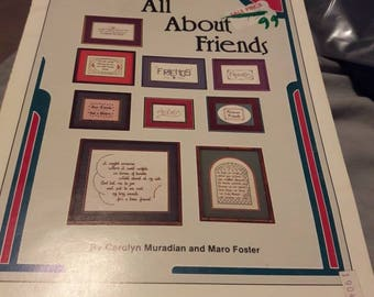 All about friends cross stitch booklet