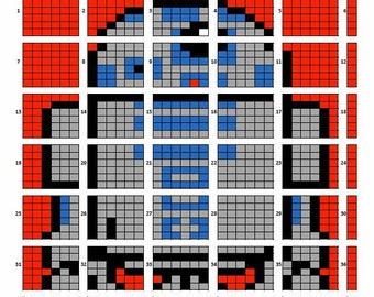 R2D2 quilt pattern
