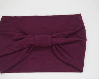 Plum - Knit Adult Size Headband