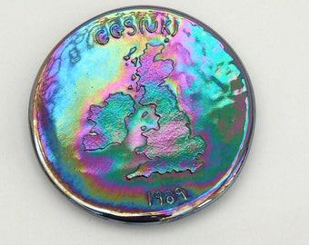 Carnival Glass Society (UK) 1989 commemorative plaque
