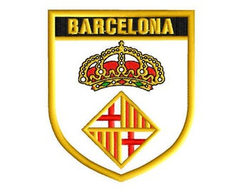 Barcelona Spain embroidery patch