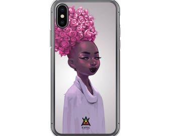 K'afful 'Head Of Roses' iPhone Case by El Carna