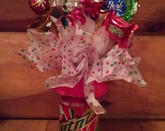Pop can candy bouquets