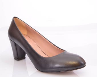 ateliermc.de no. 10108 DIVAN Pumps black 6cm block heel wedding party office dancing