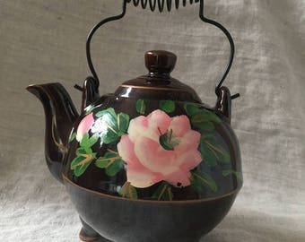 Cute Redware Teapot for One