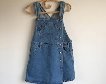 Vintage Women's Denim Overall Skorts Size 11 Bonjour