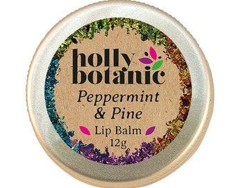 Pine & Peppermint Lip Balm (handmade, natural)