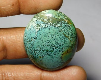 AAA++++ Tibetan Turquoise loose gemstone Excellent cabochons gemstone 100%natural gemstone smooth polish handmade 60.55cts (39x31x5)mm