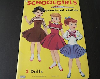 Vintage Scool Girls Paper Dolls