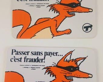 Vintage Montreal Public Transport System anti Free Ryder campaign pinback.