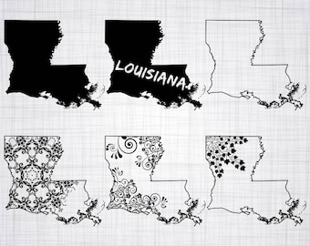 Louisiana state svg | Etsy
