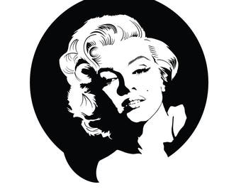 Marilyn Monroe- Cuttable Design Files(Svg, Eps,Dxf, Png) For Silhouette Studio, Cricut Design Space, Cutting Machines,Instant Download