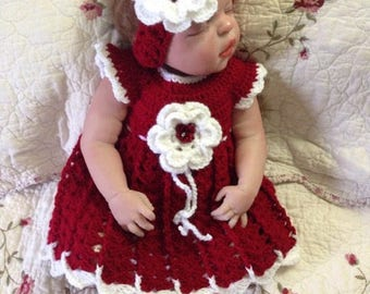 Newborn Set of 3 months baby shower gift crocheted hat shoes handbands baby infant nina girl dress baby girl photo prop crochet Day