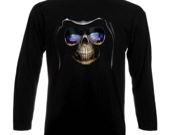 Skull Art Gothic Funny Long Sleeve T-Shirt