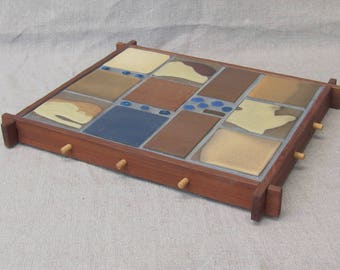Tile Trivets Framed in Redwood: 3 of 5