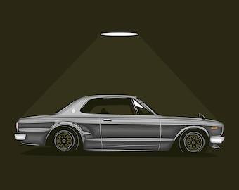 JDM Nissan Skyline GT R GT 2000 C10 Poster / Vector Clipart