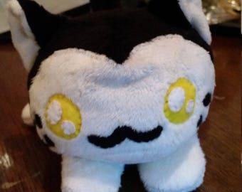 Black and White Kitten plush