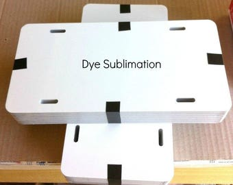 "25pcs. 6""x12"" DYE WHITE SUBLIMATION Aluminum License Plate/Car Tag Blanks"