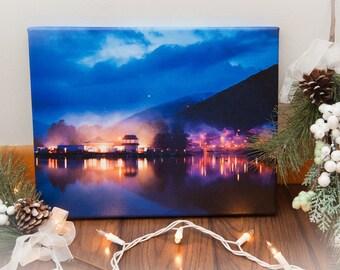 Lake Lights 11x14 Canvas