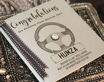 Personalised Handmade Driving Test Pass Congratulations Well Done Card Unique Keepsake