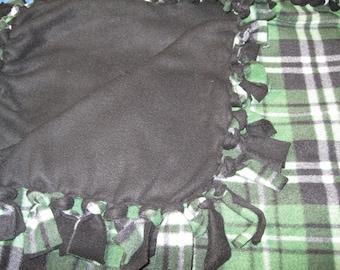 Plaid Fleece Tied Blanket