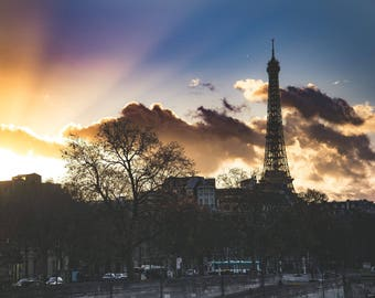 Paris photography, print on hard poster