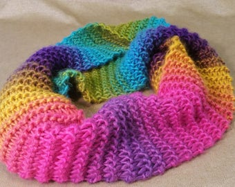 Bright rainbow scarf
