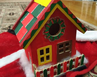Hand painted wooden holiday house