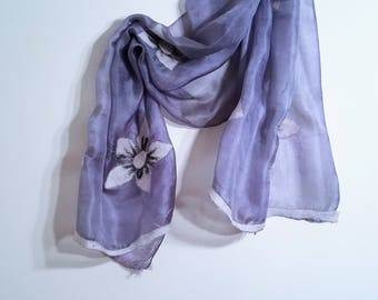 Felted Bouquet Silk Scarf