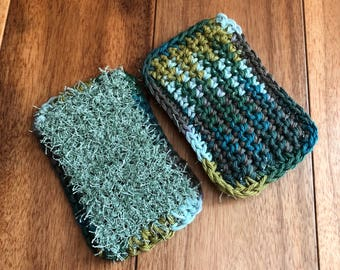 Eco friendly sponges / kitchen sponges / reusable/ washable / unsponge / handmade kitchen scrubbies / knitted / crochet / scrubby