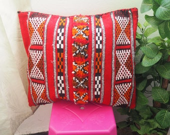 vintage Moroccan cushion Handmade Berber Kilim/vintage pillow  unstuffed