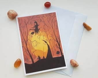 A6 Witches/Pagan Greetings Card